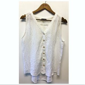 Anthropologie | Very J Lightweight White Buttoned